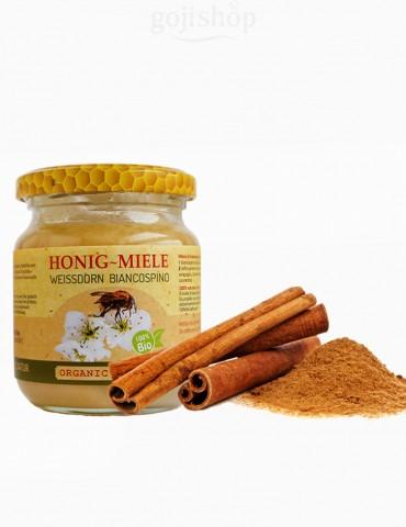Miele di biancospino e cannella del Ceylon